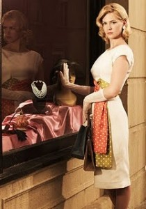 January Jones poses as Betty Draper, who worked as a model before marrying Don.