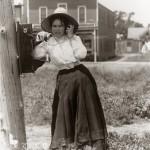 Bryson on his grandmother's crank telephone