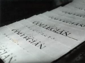 Collegian masthead 1995-1996