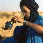 Harding on tea in the Sahara desert