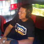 InterAksyon's Bernard Testa reads a poem at Lourd de Veyra's Chillax radio show