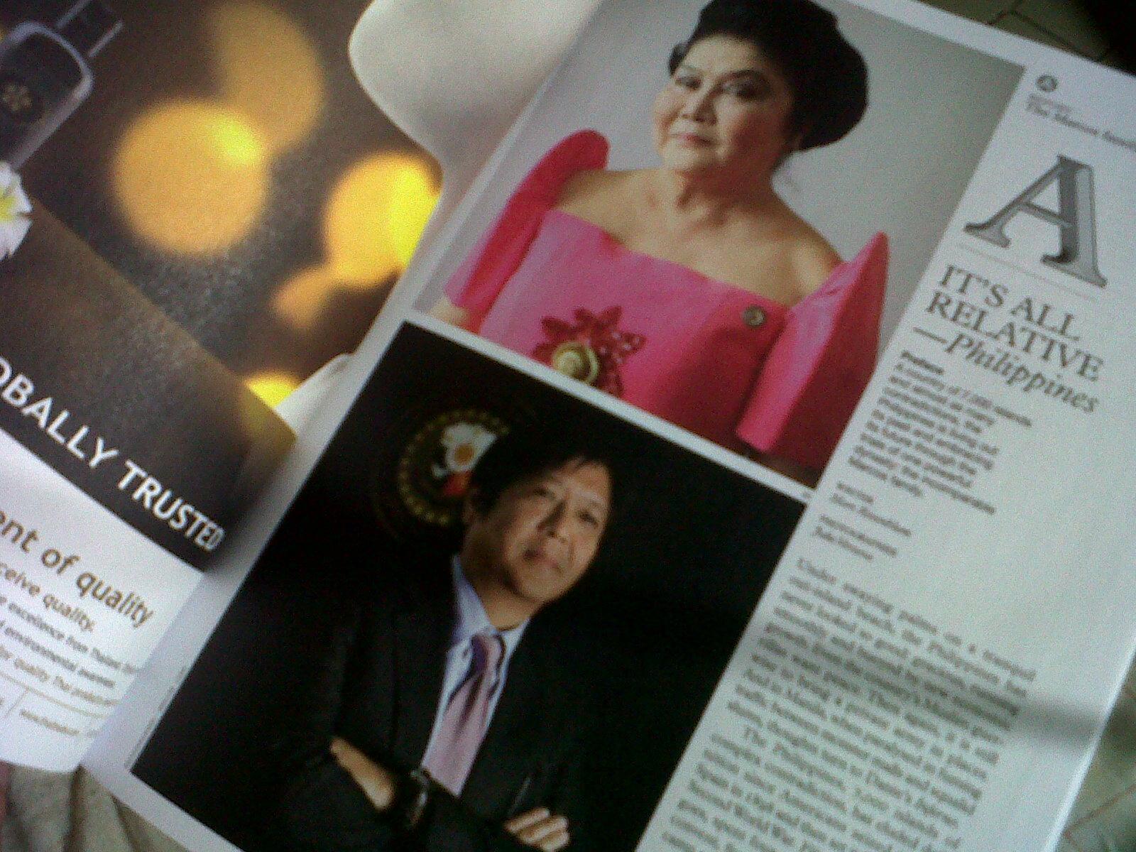 Monocle magazine feature on Imelda, Bongbong Marcos