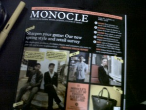 Monocle Magazine April 2013, courtesy of Jing Garcia