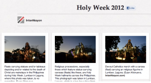 A screengrab of InterAksyon.com's Pinterest account.