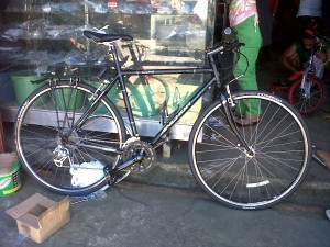 Parked at the Bohol Bike Shop in Tacloban City.