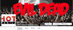 Screengrab of the header of the Facebook page of HotManila.PH, a website run by Alan Robles.