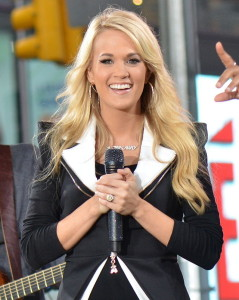 Carrie Underwood on Times Square in 2012 by Dephisticate.