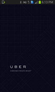 Screengrab of Uber app