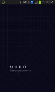 Screengrab of Uber app
