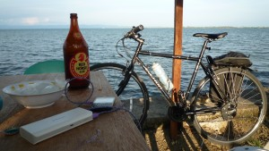 The Black Swan along Magsaysay Boulevard in Tacloban City. The bike and the beer are no longer with me.